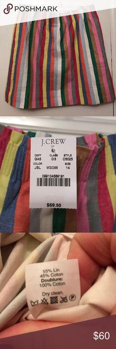 Jcrew striped skirt NWT Jcrew striped skirt! Will go with any color!! J. Crew Skirts Mini