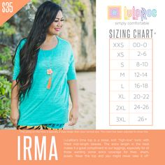 Lularoe S Irma Tunic Is A Loose Knit High Low With Ed Mid Length Sleeves