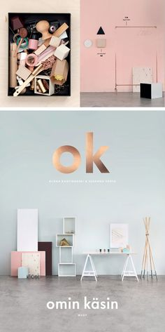 Scandinavian interior design and DIY book, OK – Omin Käsin