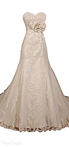 Sunvary Elegant Sweetheart Lace Mermaid Gown