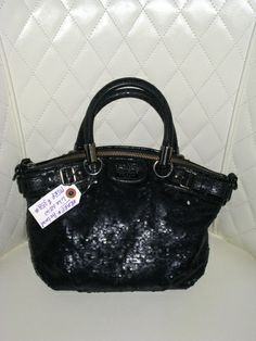 ALL COACH Auction starts at 2 PM!! Come check out all my SWAG for Sale!  'Coach Madison Sequin Mini Sophia Satchel' is going up for auction at  2pm Fri, Nov 22 with a starting bid of $100.
