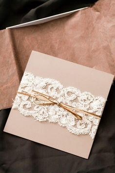 Lace invitation wrap