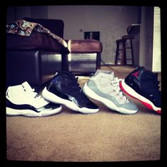 Retro 11's Concords, Space Jams, Cool Greys & Breds.