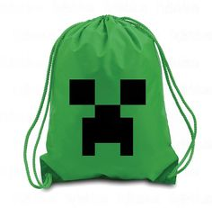 Creeper Drawstring Backpack  Creeper Minecraft  by VinylWorks4u