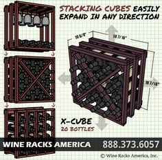 How To Build A Lattice Wine Rack In A Cabinet