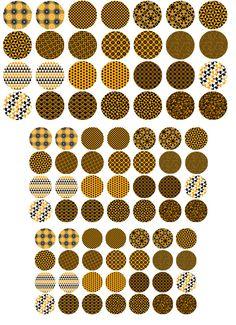 Motifs orange et noir Planche d'images digitales par missecreation