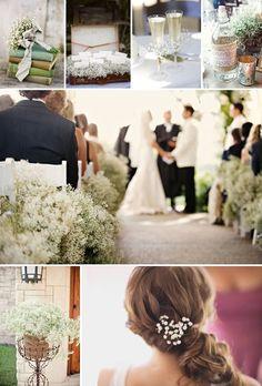 baby breath wedding theme decor inspiration details