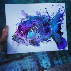 #Fish, #art, #painting,