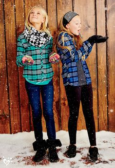 When the weather outside is frightful, think $20 best-ever plaid button-ups, super stretchy skinnies and so-cozy boots!