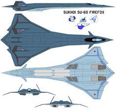 Sukhoi SU-60 firefox 2 by bagera3005.deviantart.com on @DeviantArt