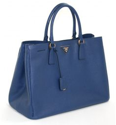 Blue Leather Tote Bag by Prada. Buy for $1,870 from Portero