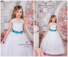 Lace White Flower Girl Dress Holiday Wedding Birthday Party Vestidos Del  Desfile f4dc6df42418