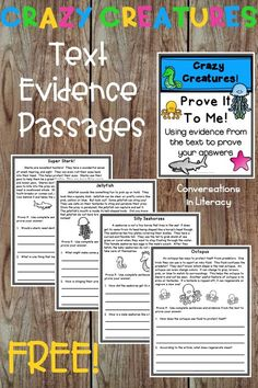 Comprehension Passages with text based questions. Great for guided reading small… Comprehension Passages with text based questions. Great for guided reading small groups, reading interventions, and literacy centers Reading Comprehension Passages, Comprehension Activities, Reading Fluency, Reading Intervention, Reading Strategies, Reading Activities, Guided Reading, Teaching Reading, Reading Response