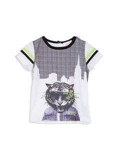 Toddler Boys >> Tiger Hem Print Tee