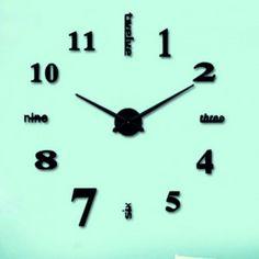 Nástenné hodiny dvanásť čierne FULL.