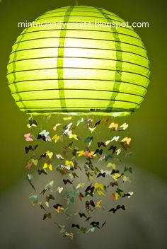 How To Make A Butterfly Rice Paper Lamp -- Did you know that the common rice paper lamps are actually not made of rice?