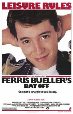 Day 10: A great film from the 80's. Ferris Bueller's Day Off (1986)