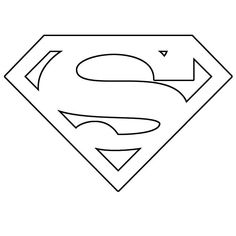 superman template | Save the two templates. The S is red, the shield is yellow: