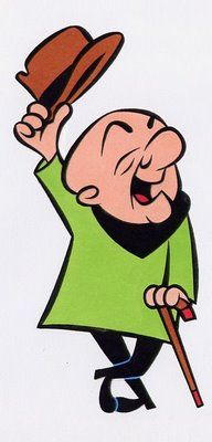 Mister Magoo.....his voice was Jim Backus or the rich man Thurston Howell III on Gilligan's Island.