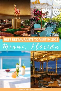 This list of the Best Miami Restaurants 2021 ranges from the new-to-discover to the classics, taking you through the whole city's food scene. Miami has long been a melting pot for a world of cultures to interact, and that is reflected in the melding of flavours in the local cuisine. Miami | Florida | Miami Getaway | Trip to Miami | Welcome to Miami | Miami To Do | Miami travel guide | Things to do Miami | Miami things to do | Florida Trips | Florida Vacation | Florida Things to Do | Florida Florida Usa, Florida Vacation, Florida Beaches, Florida Trips, Florida Food, Visit Florida, Beach Vacations, Florida Keys, Vacation Destinations
