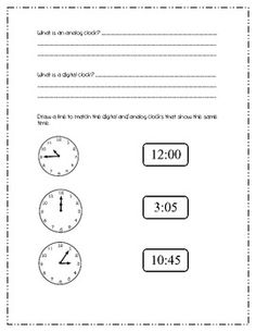 Telling Time Common Core: Unit of Study