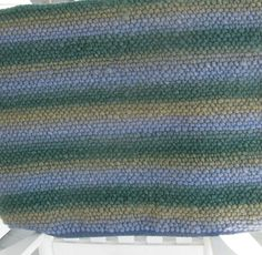Vermont Handwoven Wool Rug or Yoga MatBlue and by woolhandcrafts, $200.00