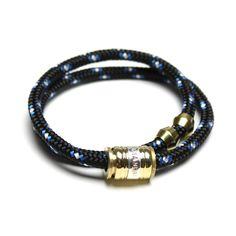 miansai - Bronze Double Wrap Black & Blue
