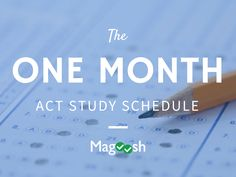 Plan your month of ACT prep wisely with our 1 Month ACT Study Plan! This ACT study guide breaks your prep down day by day so that you cover all the most important ACT concepts before test day.