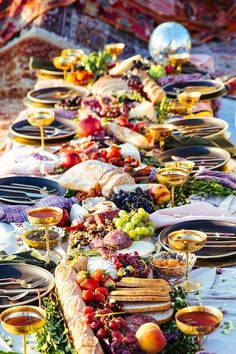 Bohemian beachside fall picnic from The Venue Report