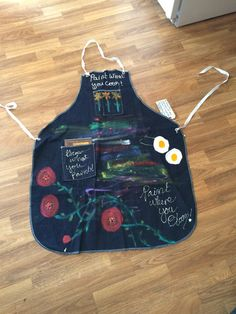 Items similar to Paint What You Cook, Grow What You Paint, Paint Where You Bloom Apron on Etsy Apron, Great Gifts, Bloom, Hand Painted, Cooking, Jeans, Painting, Etsy