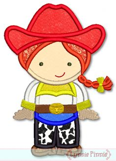 Embroidery Designs - Cowgirl Cutie Applique 4x4 5x7 6x10 SVG - Welcome to Lynnie Pinnie.com! Instant download and free applique machine embr...