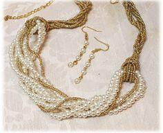 35.00$  Buy here - http://viwbn.justgood.pw/vig/item.php?t=my22kh38881 - Bridal jewelry set, wedding jewelry, bridal necklace, bridesmaid jewelry set 35.00$