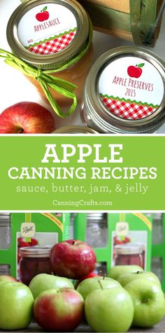 Browse our apple canning recipe list for the basics or try something more unique like apple chutney, vinegar, BBQ sauce. Applesauce, jellies, and butters, oh my! When I can apples, I find the simpler the recipe, the better they taste. Sugar-Free applesauce with a dash of cinnamon is my go-to pantry staple | Get recipes on CanningCrafts.com | #apples #applerecipe #canningrecipe #canning #foodpreservation #preserving #recipe #homecanning #applepiejam #applesauce #applebutter #applejelly