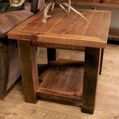 Need some rugged end tables for your living room? Check out Log Furniture Place's collection of Rustic End Tables & Log End Tables. Rustic End Tables, Rustic Farmhouse Table, Diy End Tables, Coffee And End Tables, Sofa Tables, Rustic Furniture, Diy Furniture, Modern Furniture, Furniture Design