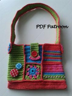 Haak patroon voor kleurrijk tasje