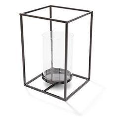 30cm Metal Lantern - Black