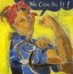 """Alfredo Roldan """"We Can Do It"""" 20 x 20 cm. Feliz 8 de marzo ! Día Internacional de la mujer"""