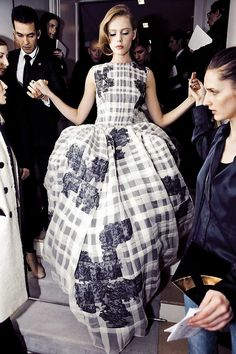 Backstage at Christian Dior Spring/Summer 2012 Couture at Paris Fashion Week.