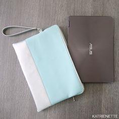 Als je een laptop gebruikt, wil je die veilig meenemen. Als nét dan een nieuw gamma kunstleer te koop is, is dit reden genoeg om een laptophoes te naaien.