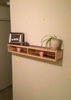 Add a rustic and functional touch to any wall in your home with this wood floating shelf! **The shelf in the pictures has sold but we can recreate a similar shelf just for you!** Dimensions: L: 35 3/4 inches W: 7 1/8 inches H: 5 inches This item was hand crafted using poplar wood