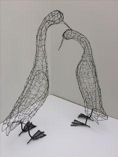 Chicken Wire Sculpture, Runner Ducks, Wire Ornaments, Duck Art, Wire Crafts, Chickens Backyard, Wire Art, Wire Sculptures, Birds