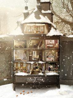 Dollhouse Christmas by SoulcolorsArt on DeviantArt