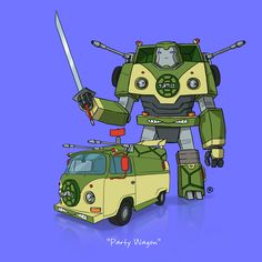 If They Could Transform - Party Wagon TMNT by rawlsy.deviantart.com on @deviantART