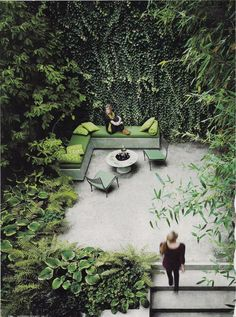 Green walled retreat