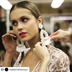 #Repost @naeemkhannyc with @repostapp. ・・・ #NKBridal 2016. Statement earrings. #ranjanakhan. #Accessories.