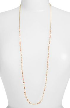 Free shipping and returns on Chan Luu Extra Long Beaded Necklace at Nordstrom.com. Faceted metallic beads trace most of this chain-link necklace that can be worn long, doubled or layered for endless versatility.