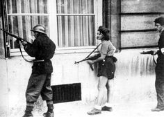 French Resistance fighters, Paris, 1940.