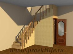 Лестница на второй этаж Staircase to the second floor