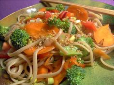 Asian Pasta Salad from Food.com:   Vegetarian Recipes From Around The World website, courtesy of Karen C. Greenlee - greenlee@bellsouth.net, is where this easy and quick pasta salad can be found. The recipe will also be included in the Zaar World Tour 2005 swap, Asian tour
