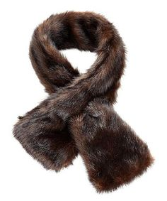 This Russian Sable Faux Fur Pull-Through Scarf is perfect! #zulilyfinds